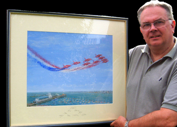 Colin's Red Arrows Painting